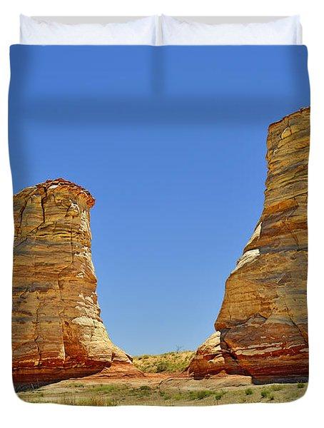 Elephant Feet Rocks Arizona Duvet Cover by Christine Till