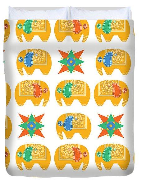 Elephant Print Duvet Cover by Susan Claire