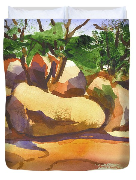 Elephant Rocks Revisited I Duvet Cover