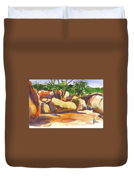 Elephant Rocks Revisited I Duvet Cover by Kip DeVore