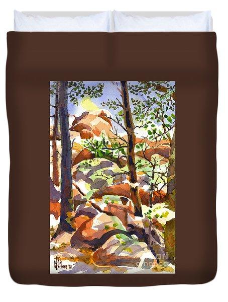 Elephant Rocks Revisited IIb Duvet Cover by Kip DeVore