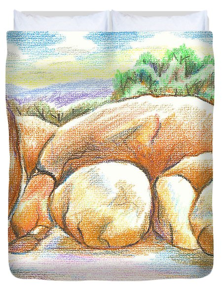 Elephant Rocks State Park II  No C103 Duvet Cover
