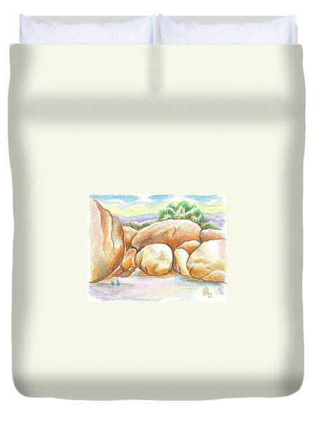 Elephant Rocks State Park II  No C103 Duvet Cover