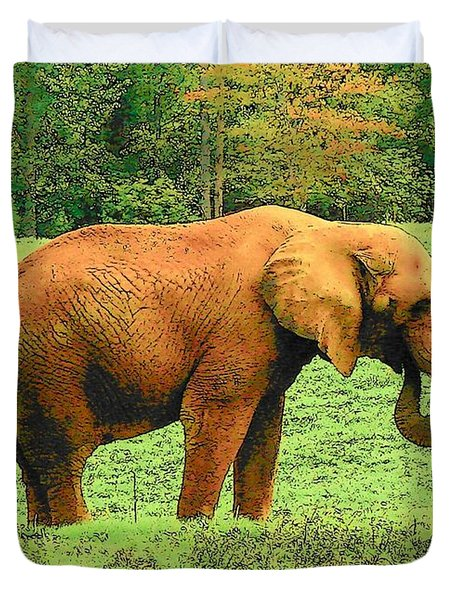 Duvet Cover featuring the photograph Elephant by Rodney Lee Williams