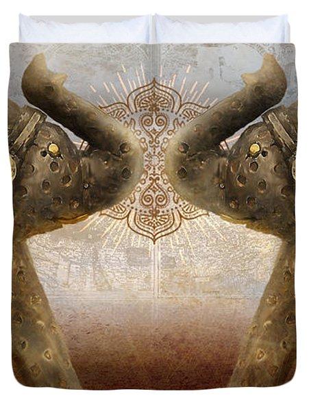 Elephants I Duvet Cover