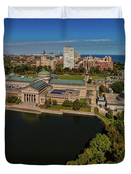Elevated View Of The Museum Of Science Duvet Cover