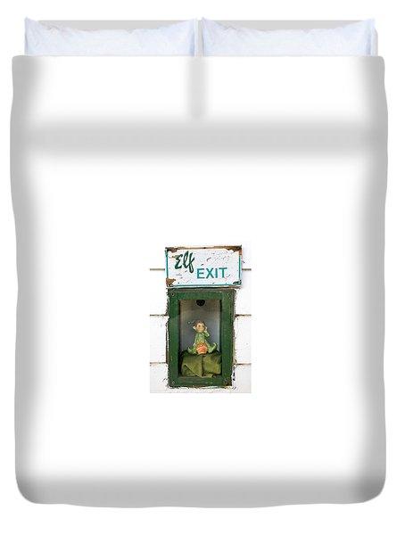 elf exit, Dubuque, Iowa Duvet Cover