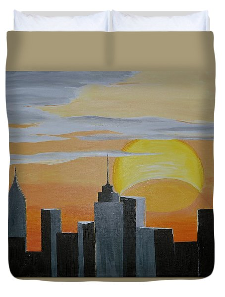 Elipse At Sunrise Duvet Cover