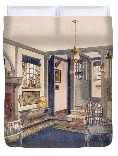 Elizabethan Style Entrance Hall Duvet Cover