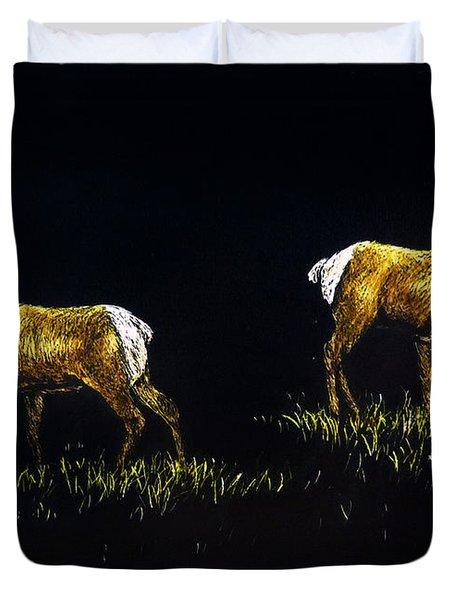 Elk Bulls Duvet Cover