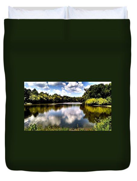 Elk Creek Tennessee Duvet Cover by Chris Tarpening