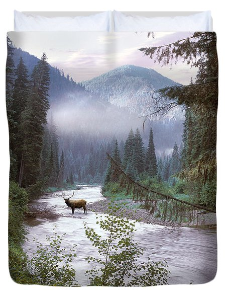 Elk Crossing 2 Duvet Cover