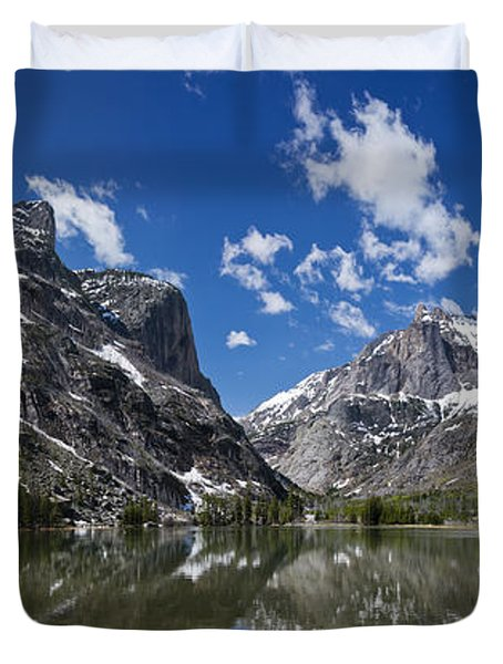 Elk Lake Panorama 1 Duvet Cover