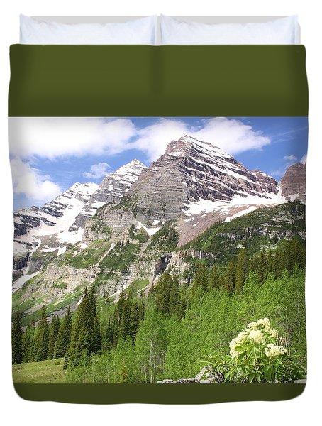 Elk Mountains Duvet Cover