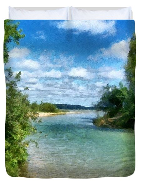 Elk River- Elk Rapids Michigan Duvet Cover