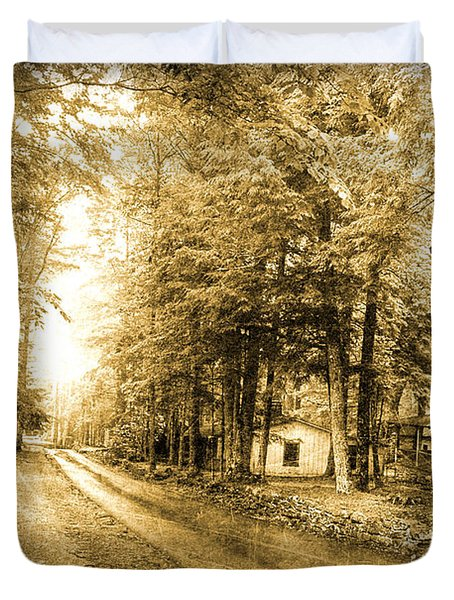 Elkmont Ghost Town Duvet Cover by Michael Eingle