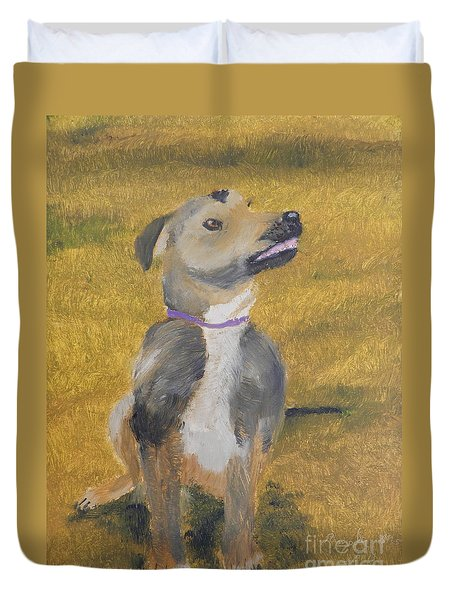 Duvet Cover featuring the painting Ella by Pamela  Meredith