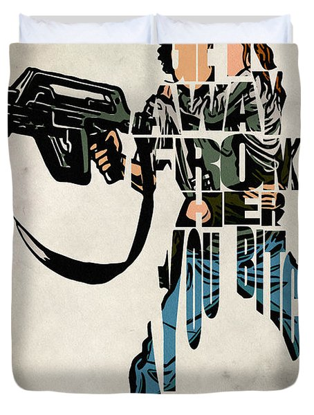 Ellen Ripley From Alien Duvet Cover by Ayse Deniz