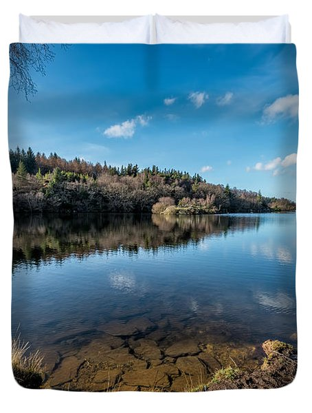 Elsi Reservoir Duvet Cover by Adrian Evans
