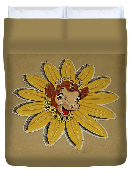 Elsie The Borden Cow  Duvet Cover