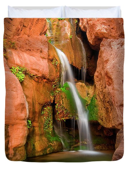 Elves Chasm Waterfall, Grand Canyon Duvet Cover