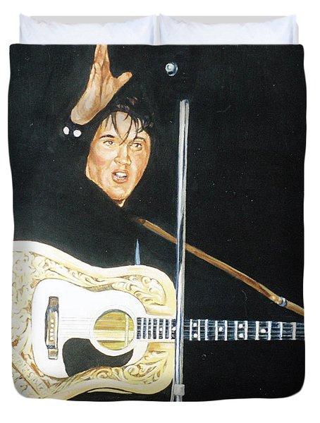 Elvis 1956 Duvet Cover by Bryan Bustard