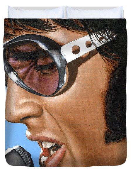 Elvis 24 1970 Duvet Cover