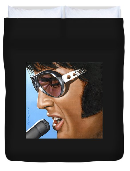 Elvis 24 1970 Duvet Cover
