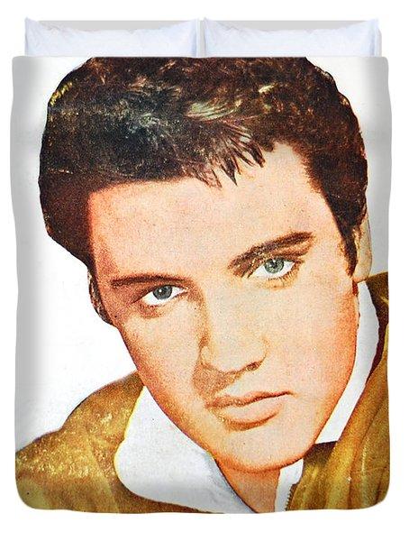Elvis Colored Portrait Duvet Cover