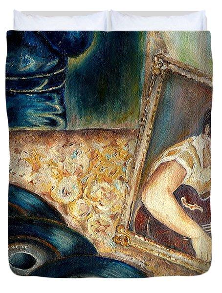 Elvis Country Boy Duvet Cover by Carole Spandau