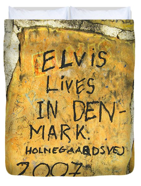 Duvet Cover featuring the photograph Elvis Lives In Denmark by Lizi Beard-Ward