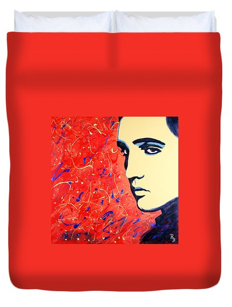 Elvis Presley - Red Blue Drip Duvet Cover