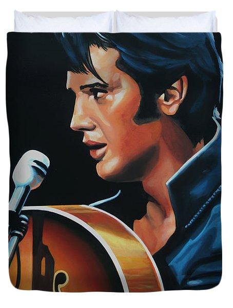 Elvis Presley 3 Painting Duvet Cover