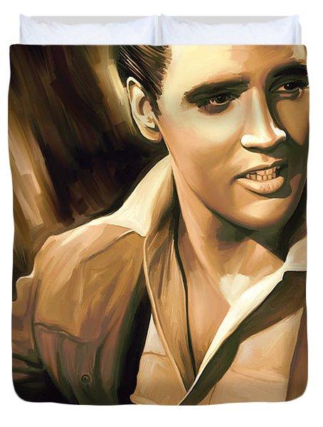 Elvis Presley Artwork Duvet Cover by Sheraz A