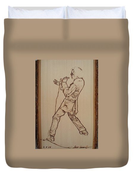 Elvis Presley - If I Can Dream Duvet Cover by Sean Connolly