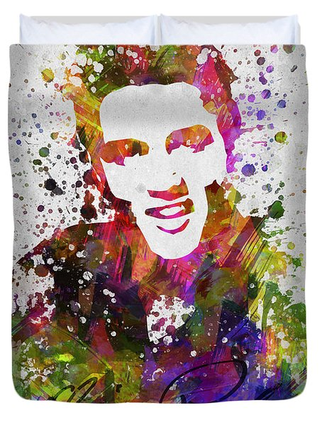 Elvis Presley In Color Duvet Cover