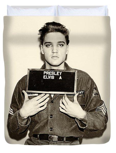 Elvis Presley - Mugshot Duvet Cover