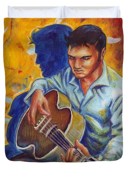 Elvis Presley- Shadow Duet Duvet Cover