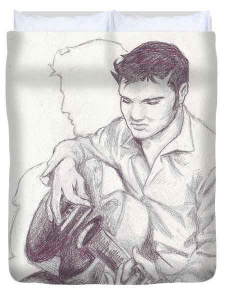 Elvis Sketch Duvet Cover