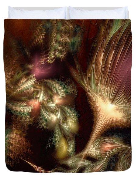 Duvet Cover featuring the digital art Elysian by Casey Kotas