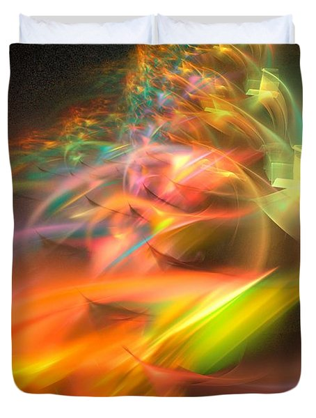 Duvet Cover featuring the digital art Elysium by Sipo Liimatainen