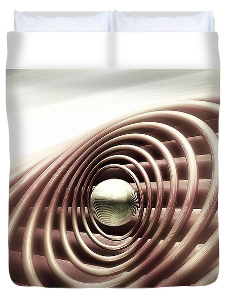 Duvet Cover featuring the digital art Emanate by John Alexander