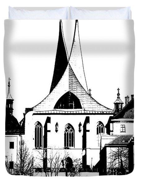 Emauzy - Benedictine Monastery Duvet Cover by Michal Boubin