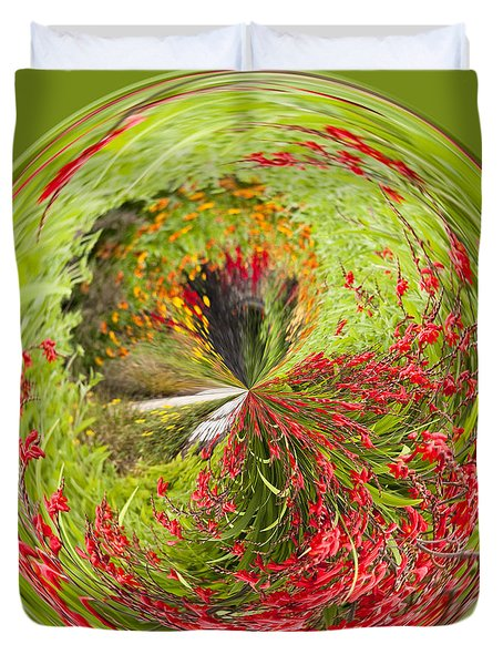Emberglow Orb Duvet Cover by Anne Gilbert