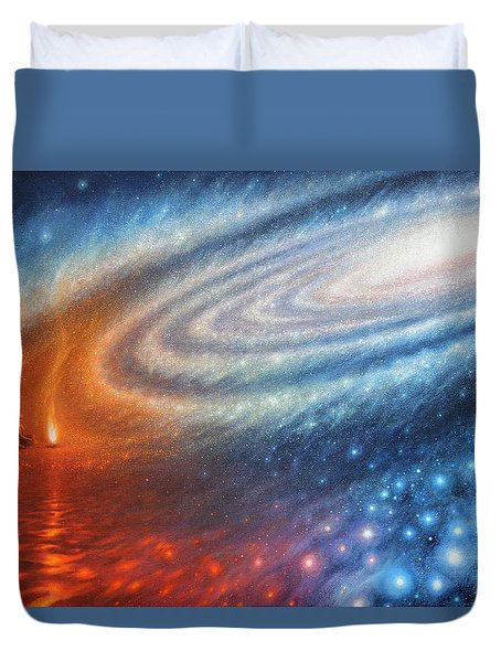 Embers Of Exploration And Enlightenment Duvet Cover by Lucy West
