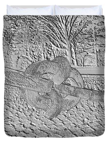 Embossed Chain Duvet Cover by Michael Porchik