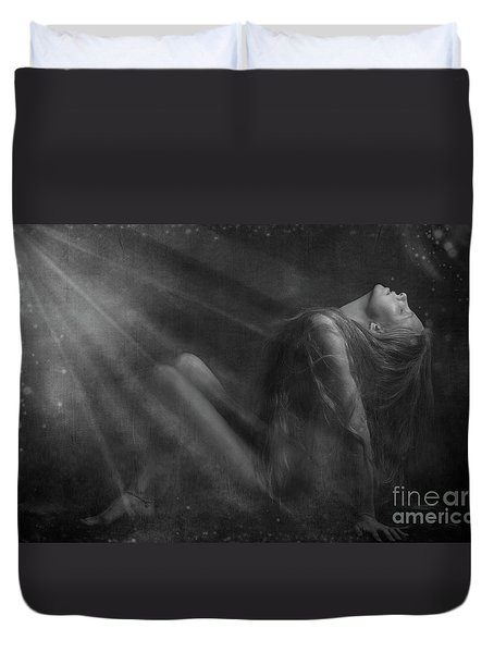 Embraced By The Light.. Duvet Cover by Nina Stavlund