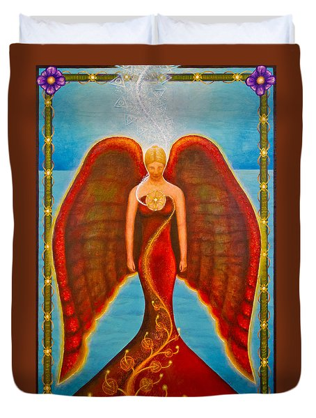 Emeliah Angel Of Inner Journeys Duvet Cover