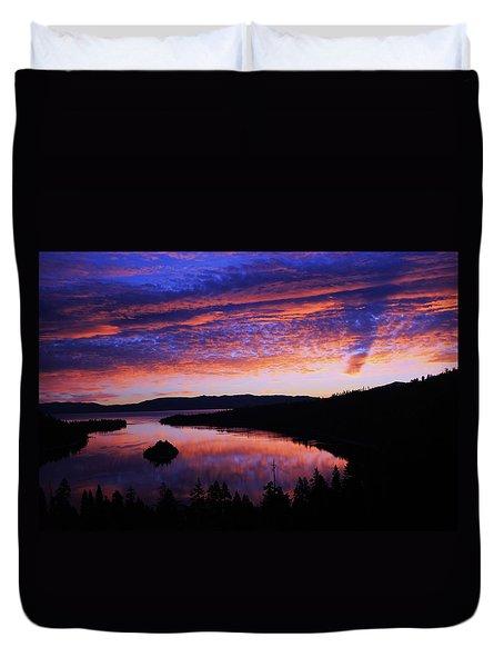 Emerald Bay Awakens Duvet Cover
