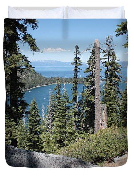 Emerald Bay Vista Duvet Cover